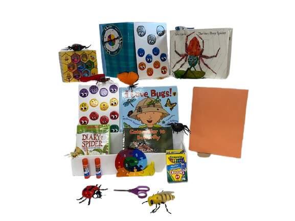 Literacy book bin. Bugs Bin