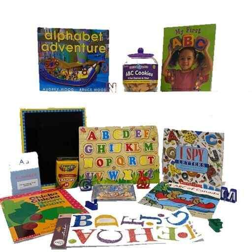 Literacy book bin. Alphabet Bin