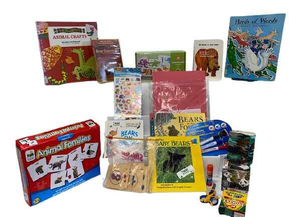 Literacy book bin. Brown Bear and Animals Bin