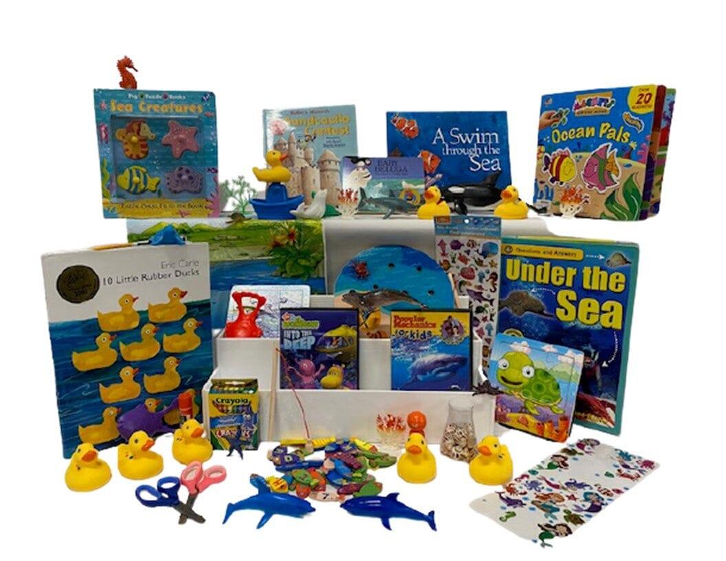 Literacy book bin. Under The Sea Bin
