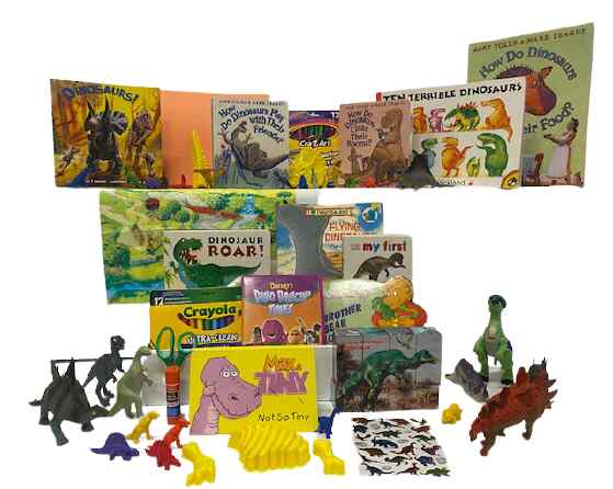 Literacy book bin. Dinosaurs bin (2)
