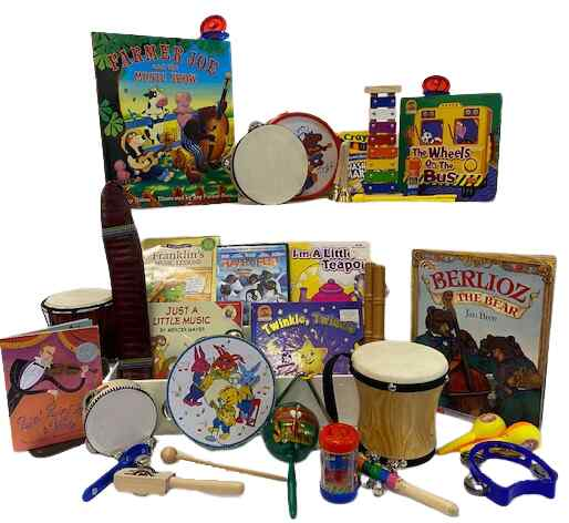 Literacy book bin. Music bin